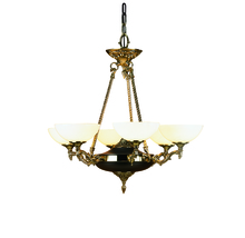 Framburg 8406 FB - 6-Light French Brass Napoleonic Dining Chandelier