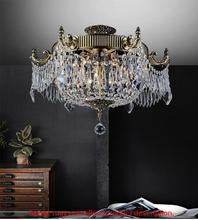 Crystal World 2048C22GB - 6 Light French Gold Bowl Flush Mount from our Brass collection
