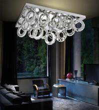 Crystal World 5417C34ST - LED Chrome Flush Mount from our Ring collection