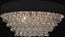 Crystal World 5422C22C-R (Black) - 8 Light Chrome Drum Shade Flush Mount from our Atlantic collection