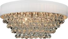 Crystal World 5422C22C-R (White) - 8 Light Chrome Drum Shade Flush Mount from our Atlantic collection