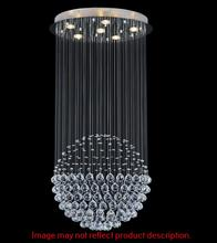 Crystal World 6607C32C(H:59) - 16 Light Chrome Flush Mount from our Single Sphere collection