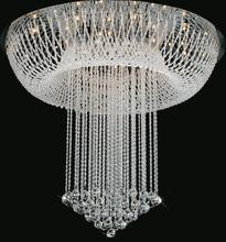 Crystal World 6615C32C - 20 Light Chrome Flush Mount from our Waterfall collection