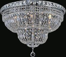 Crystal World 8003C24C - 9 Light Chrome Bowl Flush Mount from our Stefania collection