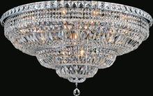 Crystal World 8003C30C - 16 Light Chrome Bowl Flush Mount from our Stefania collection