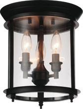 Crystal World 9809C10-3-109 - 3 Light Oil Rubbed Bronze Cage Flush Mount from our Desire collection