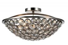 Crystal World 9908C18-3-606 - 3 Light Satin Nickel Bowl Flush Mount from our Wallula collection