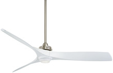 "Minka-Aire F853L-BN/WH - Aviation LED 60"" - Brushed Nickel/White"