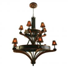 Kalco 5832NI - Aspen 12 Light  Chandelier (Iron Ring)