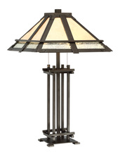 Lite Source Inc. C41402 - Table Lamp - Dark Bronze/mica Shade, E27 Type A 60wx2