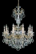 Schonbek 5008-27 - La Scala 10 Light 110V Chandelier in Parchment Gold with Clear Heritage Crystal