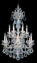 Schonbek 5009-22 - La Scala 12 Light 110V Chandelier in Heirloom Gold with Clear Heritage Crystal