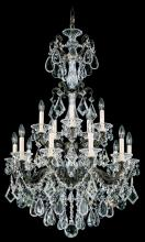 Schonbek 5010-48 - La Scala 15 Light 110V Chandelier in Antique Silver with Clear Heritage Crystal