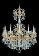 Schonbek 5011-83 - La Scala 12 Light 110V Chandelier in Florentine Bronze with Clear Heritage Crystal