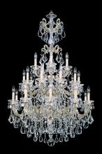 Schonbek 5012-48 - La Scala 25 Light 110V Chandelier in Antique Silver with Clear Heritage Crystal