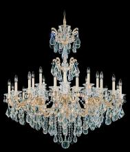 Schonbek 5013-48 - La Scala 24 Light 110V Chandelier in Antique Silver with Clear Heritage Crystal