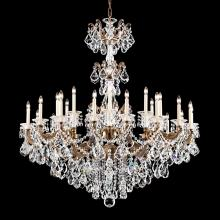Schonbek 5014-27 - La Scala 27 Light 110V Chandelier in Parchment Gold with Clear Heritage Crystal