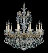 Schonbek 5074-22 - La Scala 10 Light 110V Chandelier in Heirloom Gold with Clear Heritage Crystal