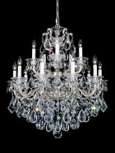 Schonbek 5075-27 - La Scala 15 Light 110V Chandelier in Parchment Gold with Clear Heritage Crystal