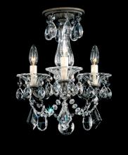 Schonbek 5343-48 - La Scala 3 Light 110V Chandelier in Antique Silver with Clear Heritage Crystal