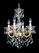 Schonbek 5344-48 - La Scala 4 Light 110V Chandelier in Antique Silver with Clear Heritage Crystal