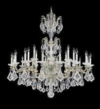 Schonbek 5413-74 - La Scala Rock Crystal 24 Light 110V Chandelier in Parchment Bronze with Clear Rock Crystal