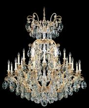 Schonbek 3774-76 - Renaissance 25 Light 110V Chandelier in Heirloom Bronze with Clear Heritage Crystal