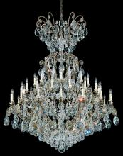 Schonbek 3775-48 - Renaissance 41 Light 110V Chandelier in Antique Silver with Clear Heritage Crystal