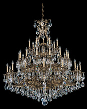 Schonbek 6967-80O - Sophia 35 Light 110V Chandelier in Roman Silver with Clear Optic Crystal