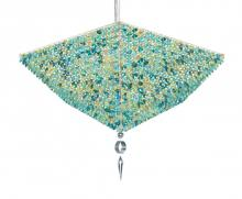 Schonbek VP2413A - Vertex 10 Light 110V Pendant in Stainless Steel with Clear Spectra Crystal