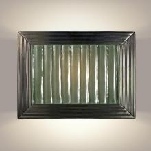 A-19 RE104-GM-SW - Ripple Wall Sconce Gunmetal and Seaweed