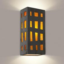 A-19 RE110-GM-TG-GU24 - Grid Wall Sconce Gunmetal and Tangelo (GU24 Base Socket (Bulb not included))