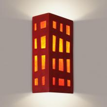 A-19 RE110-MR-FR - Grid Wall Sconce Matador Red and Fire