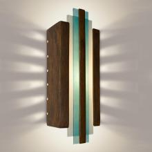 A-19 RE113-BT-TQ - Empire Wall Sconce Butternut and Turquoise