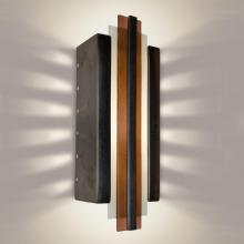 A-19 RE113-GM-RW-GU24 - Empire Wall Sconce Gunmetal and Rosewood (GU24 Base Socket (Bulb not included))