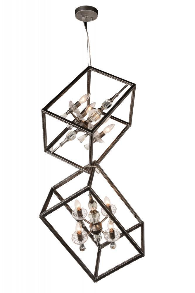 8 Light Luxor Silver Up Mini Chandelier from our Tapi collection