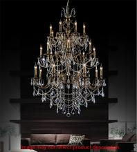 Crystal World 2039P40GB-24 - 24 Light French Gold Up Chandelier from our Brass collection