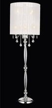 Crystal World 5002F20C(W) - 8 Light Floor Lamp with Chrome finish