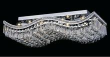 Crystal World 5051C39C-RC - 18 Light Chrome Flush Mount from our Ripple collection