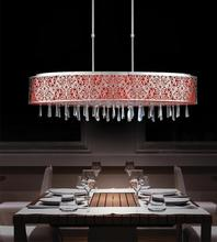 Crystal World 5318P38ST (Red) - 7 Light Satin Nickel Drum Shade Chandelier from our Tresemme collection