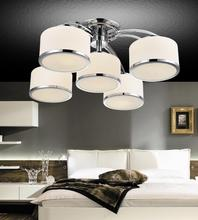 Crystal World 5479C30C-4+1 - 5 Light Chrome Drum Shade Flush Mount from our Frosted collection