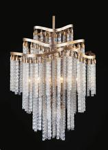 Crystal World 5648P26G - 10 Light Gold Down Chandelier from our Storm collection