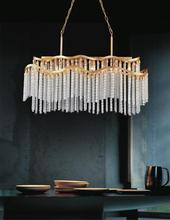Crystal World 5648P47G-RC - 8 Light Gold Down Chandelier from our Storm collection