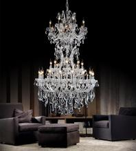 Crystal World 8311P36C-16+8+8+1+1 - 34 Light Chrome Up Chandelier from our Maria Theresa collection