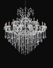 Crystal World 8311P60C-20+10+1 (Clear) - 31 Light Chrome Up Chandelier from our Maria Theresa collection