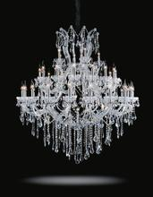Crystal World 8318P50C-20+15+5+1 (Clear)-B - 41 Light Chrome Up Chandelier from our Maria Theresa collection