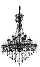 Crystal World 8393P53C-20+10+5 ( Black ) - 35 Light Chrome Up Chandelier from our Casper collection