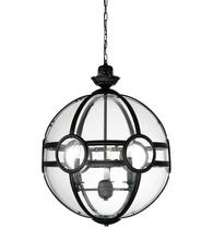 Crystal World 9696P25-5-101 - 5 Light Black Pendant from our Beas collection