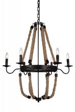 Crystal World 9702P31-6-130 - 6 Light Rust Up Chandelier from our Dharla collection