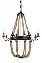 Crystal World 9702P36-8-130 - 8 Light Rust Up Chandelier from our Dharla collection